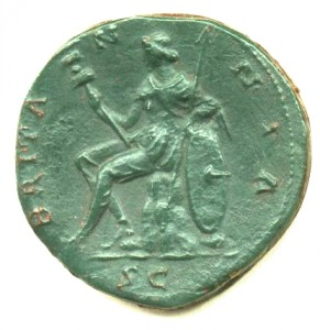 Britannia from a Romano-British coin