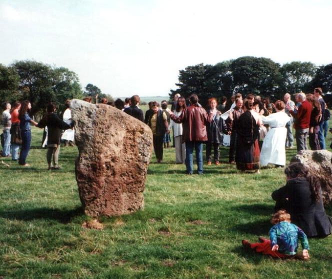 The first Avebury Gorsedd, 1993