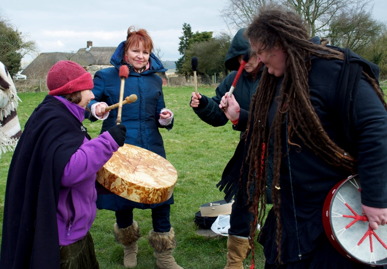 With the World Drum at Avebury