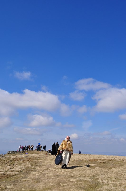 Hiking up Clee Hill