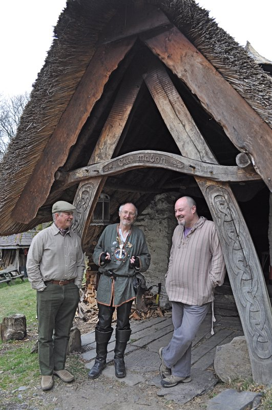 Jeff, Greywolf & Adam at Cae Mabon roundhouse
