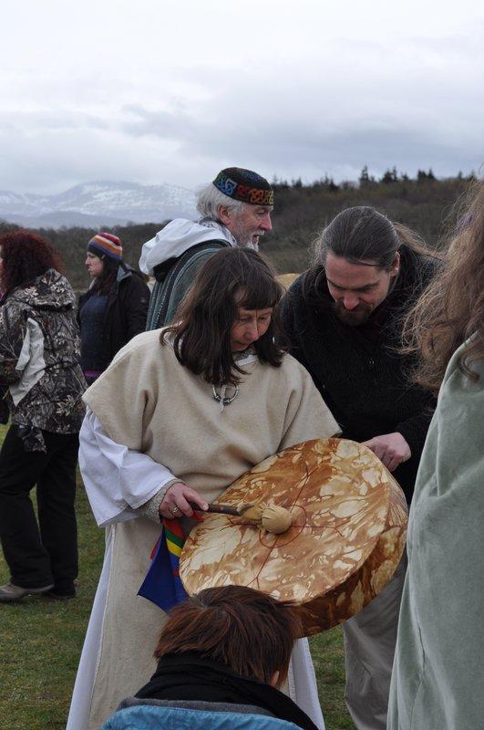 Lorraine and The World Drum at Bryn Celli Ddu