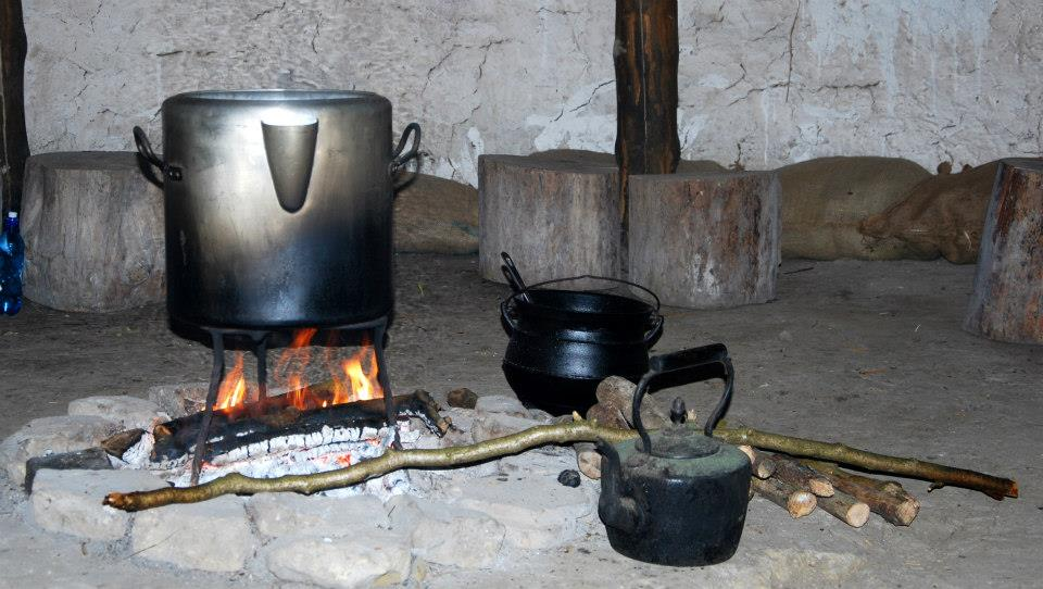 Brewing the Chaga on the Roundhouse fire