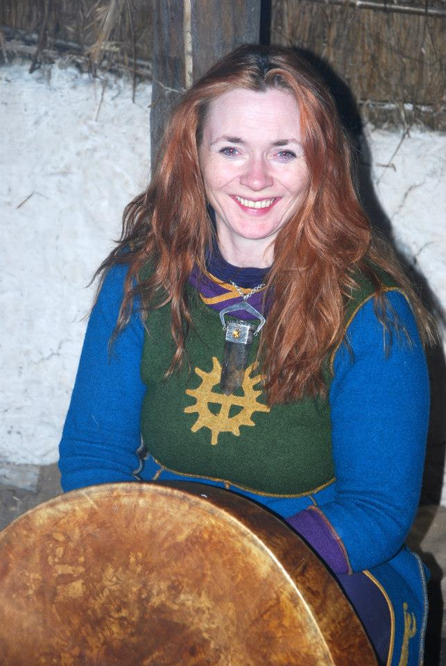 Lena with her drum