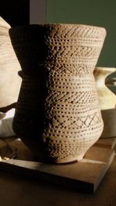 Bronze Age beaker, freshly decorated.