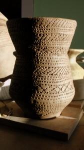 Bronze Age beaker, freshly decorated.